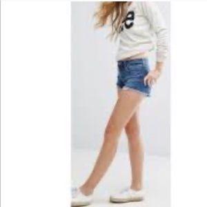 Lee distressed denim shorts